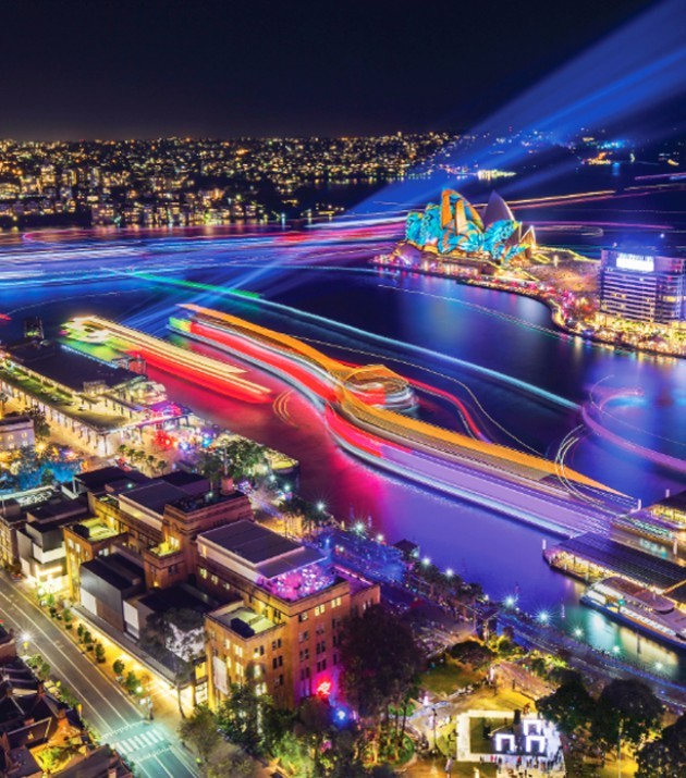 The vibrant lights of Vivid Sydney