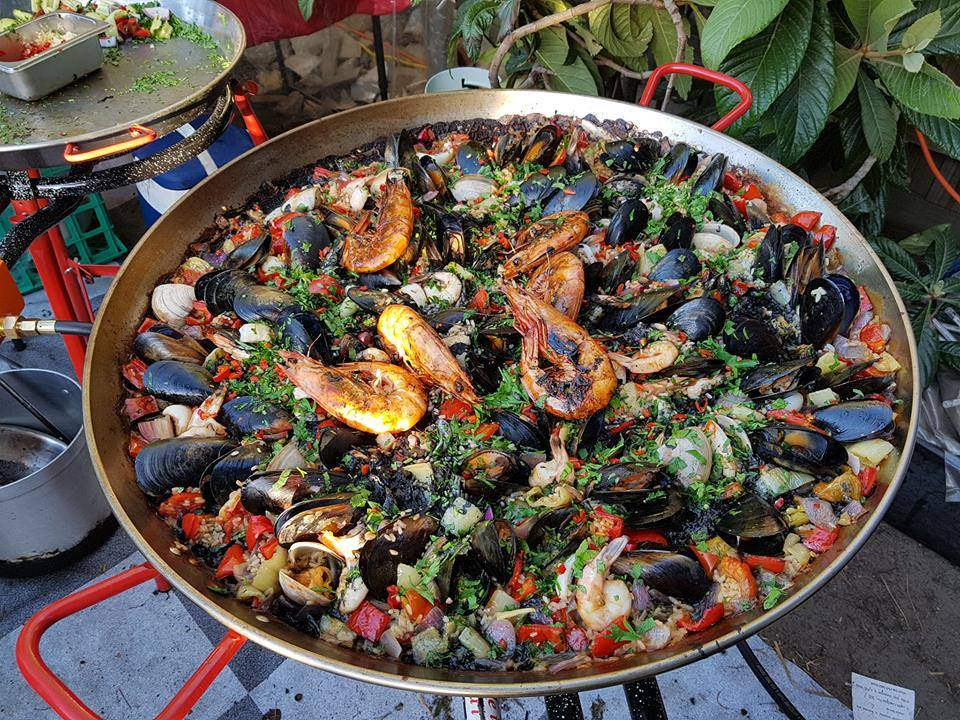 paella lunch claypots full circle singapore