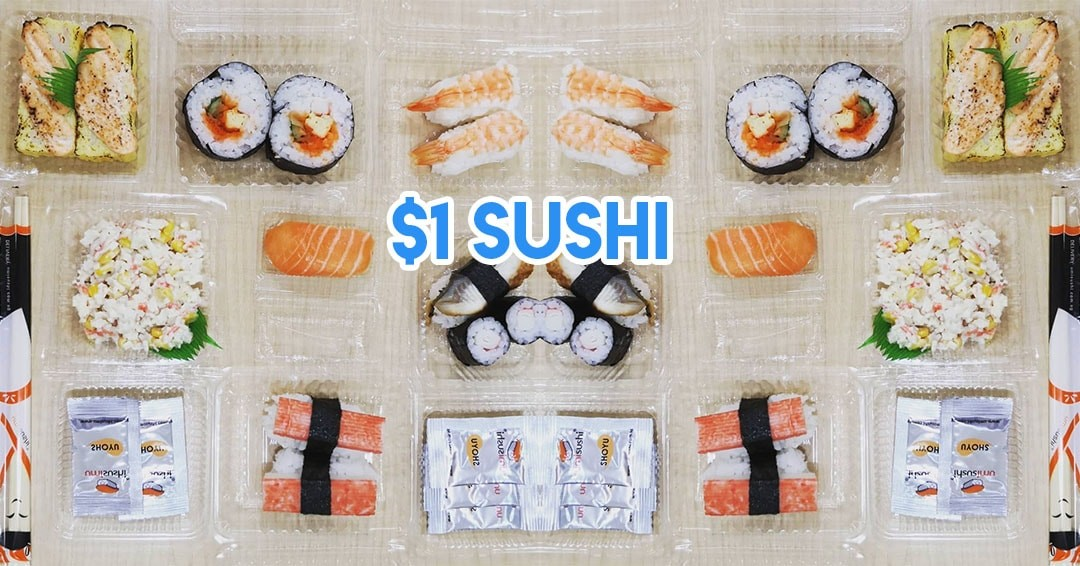 April deals TSL $1 umi sushi