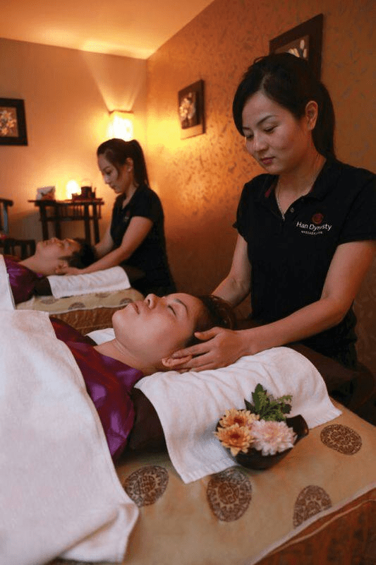 tang dynasty spa - head massage