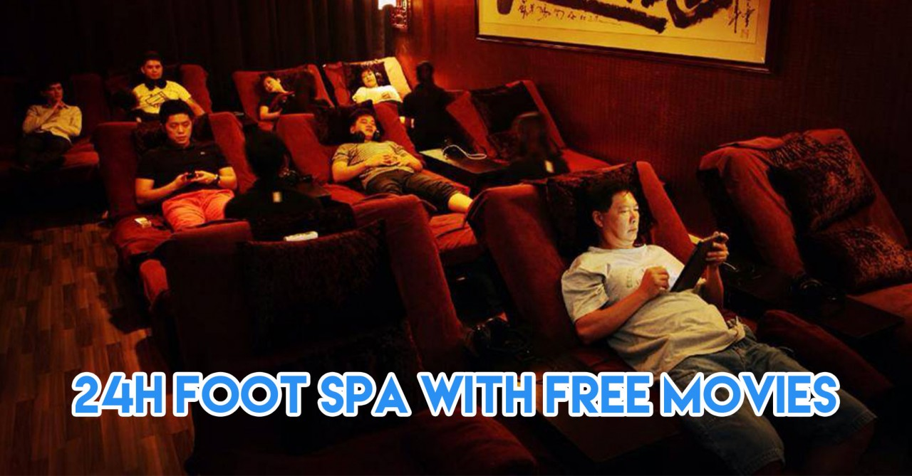 massage - 24 hour foot spa and free movies