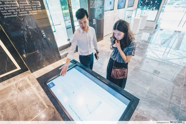 GROHE Spa's interactive table