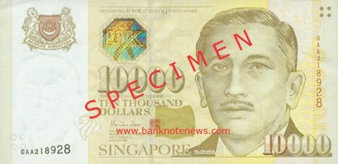 singapore 10000 note