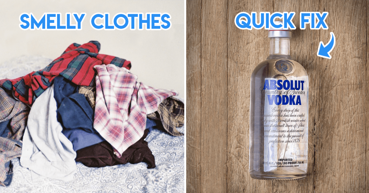 Stinky clothes - vodka