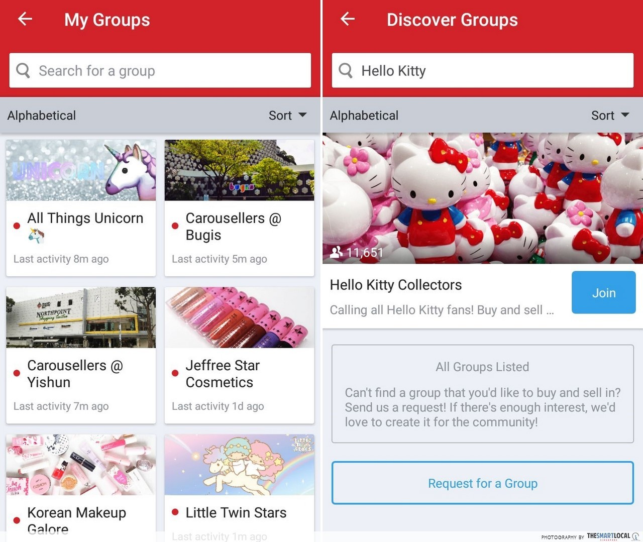 Carousell Groups