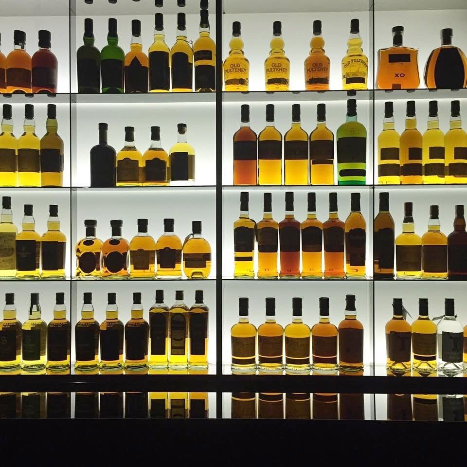 Whisky bottles at the Quaich Bar
