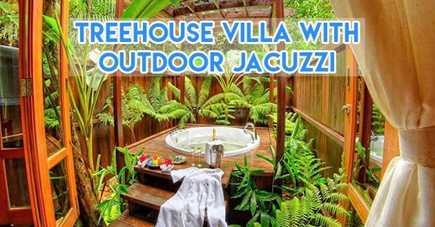 Treehouse villa with outdoor jacuzzi kota kinabalu
