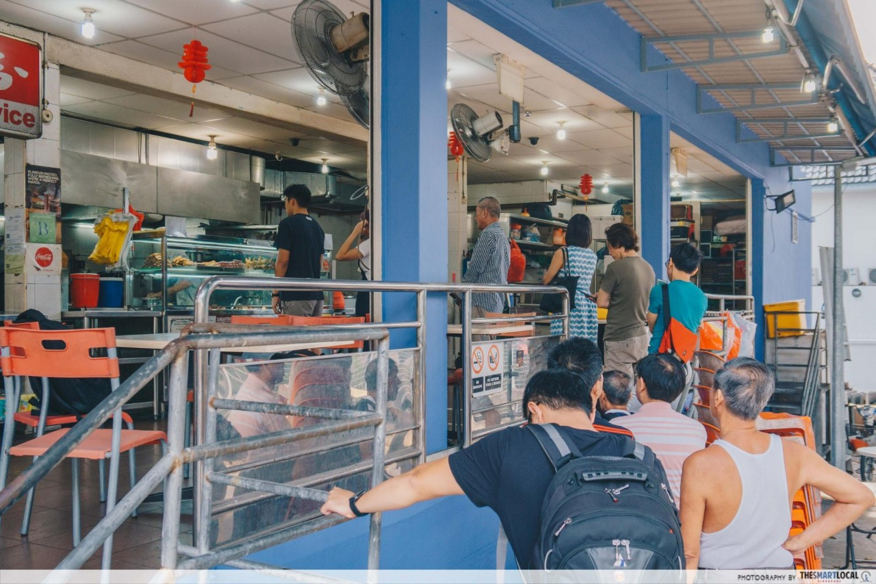 Food In Sembawang - Chong Pang Nasi Lemak Queue