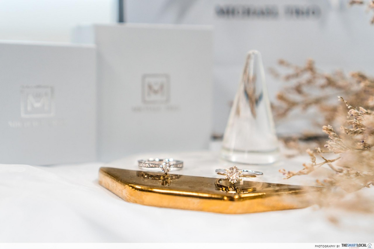 michael trio customisable and bespoke diamond engagement rings