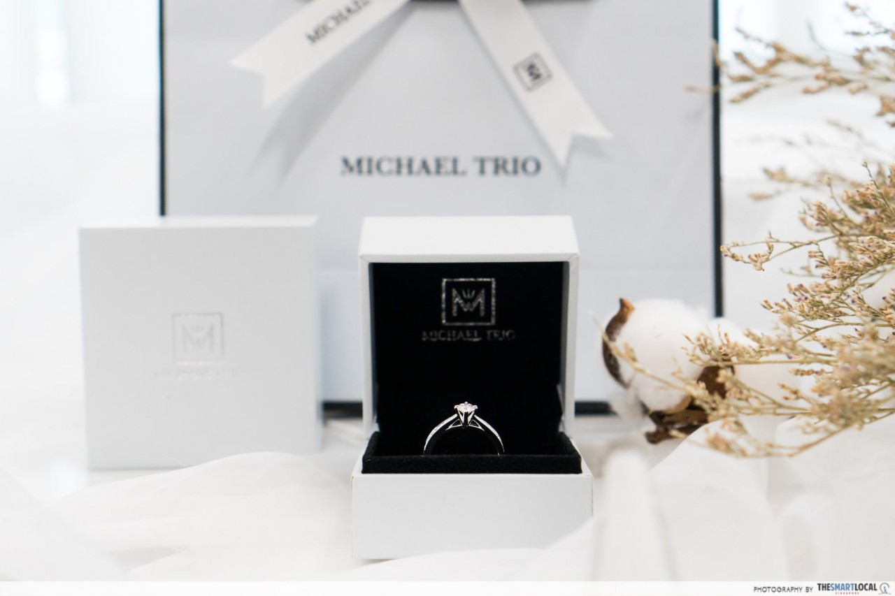 michael trio singapore diamond engagement rings