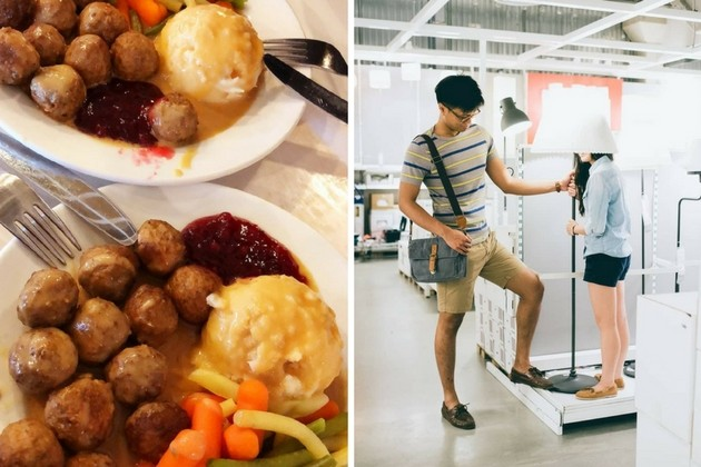 ikea meatballs and furniture shopping