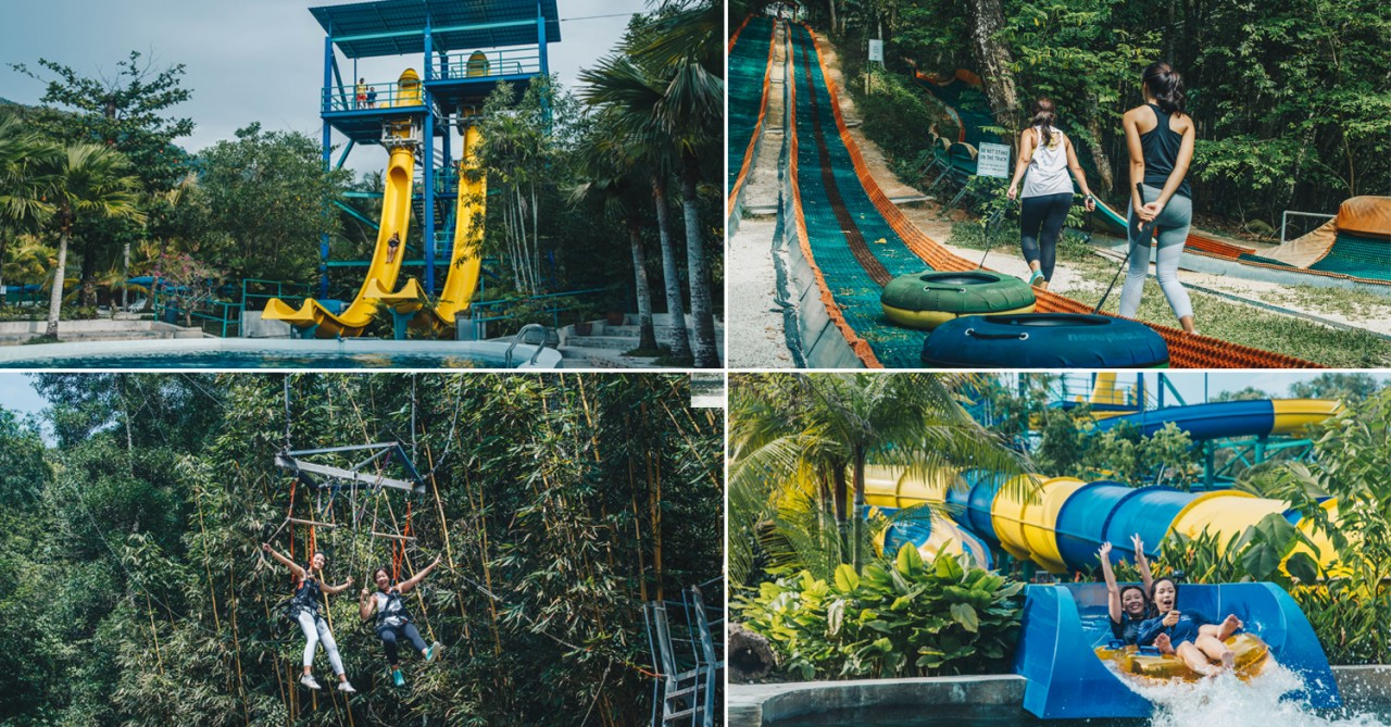 Escape Theme Park Penang: 2-In-1 Waterpark & Adventure Course For Thrillseekers
