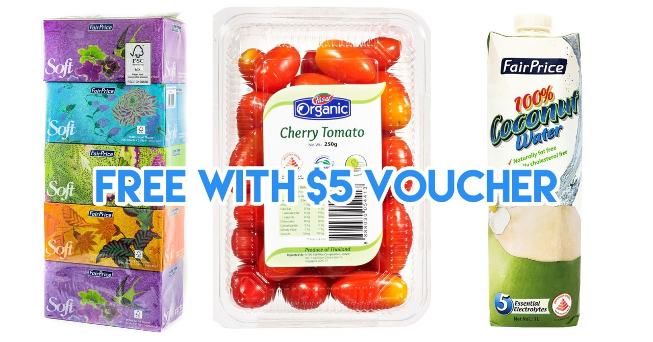 NTUC FairPrice Is Giving $5 Return Vouchers To Shoppers From 28th April to 1st May
