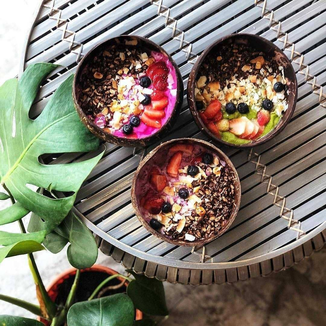 Smoothie bowls at The Social Space