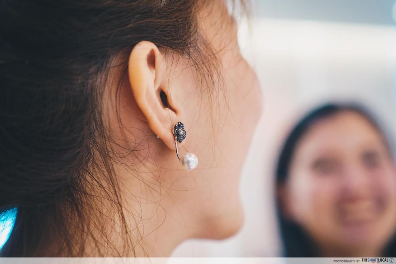 Wearing Swarovski's Latisha Pierced Earring Jackets