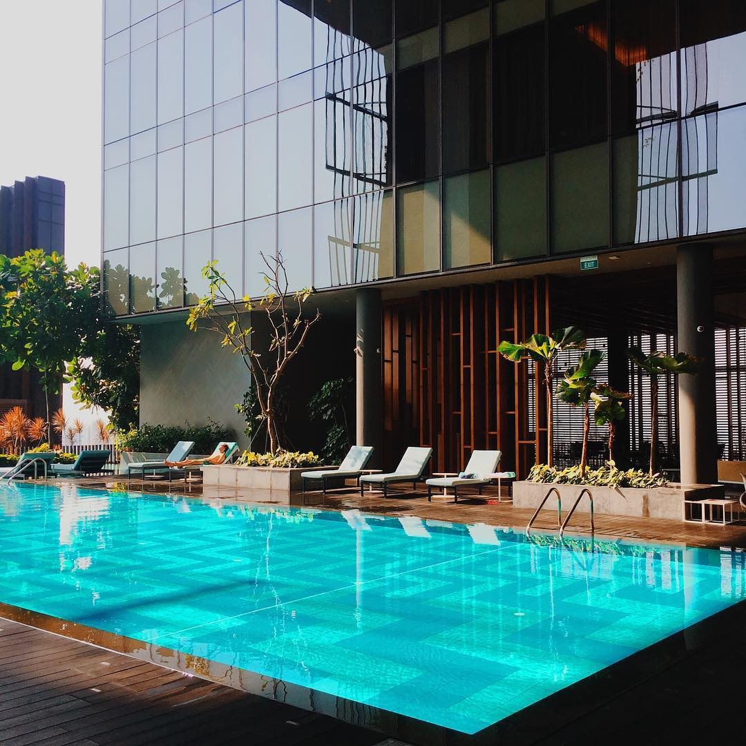oasia hotel downtown singapore swimming pool
