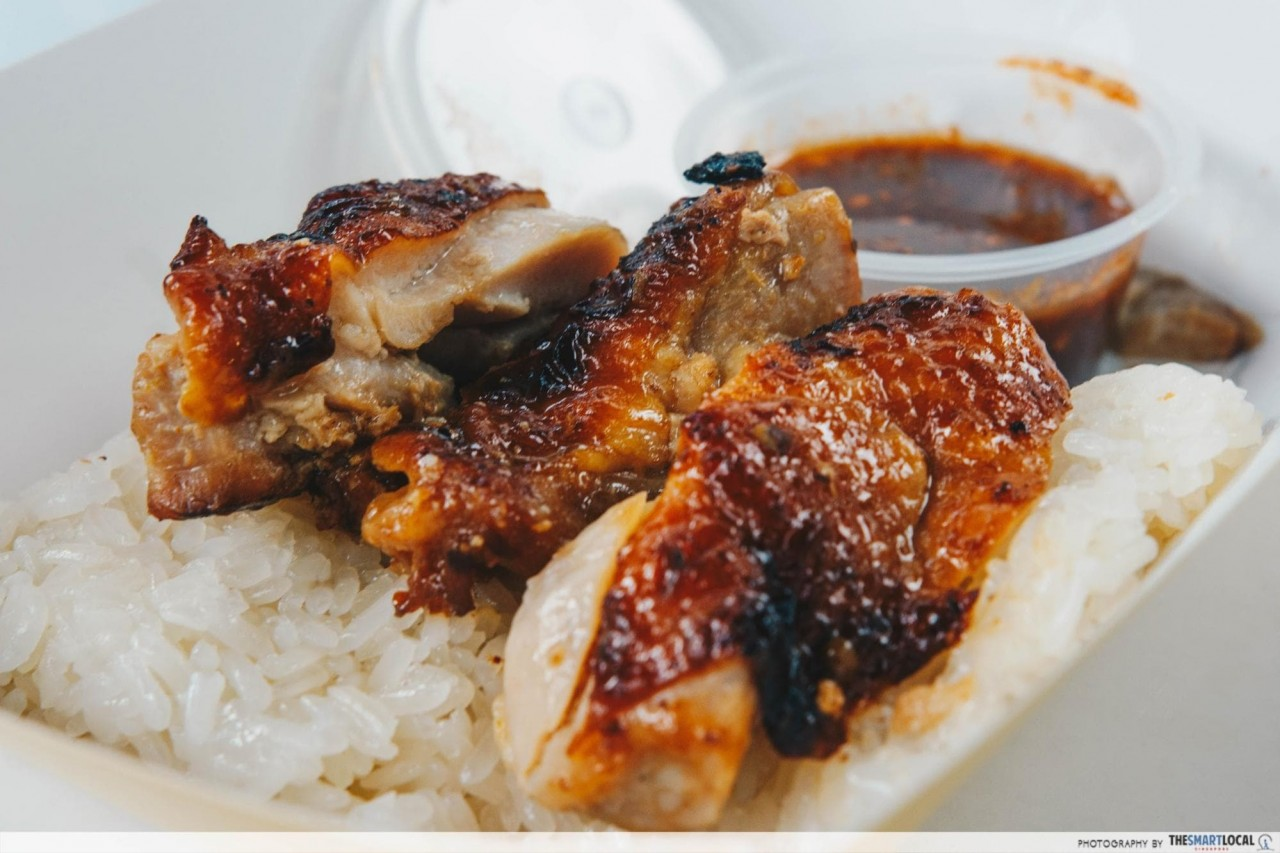 simple eats - grilled chicken with sticky rice