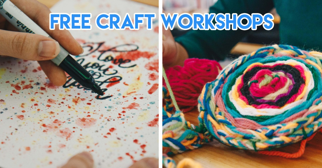 The Clementi Mall's Free Craft Workshops Let You Pick Up Watercoloring & Design Your Own Canvas Bag