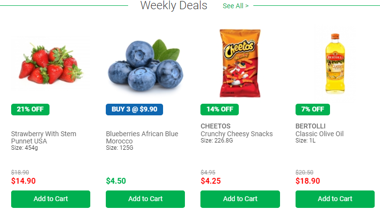 Cold Storage Online Store weekly deals