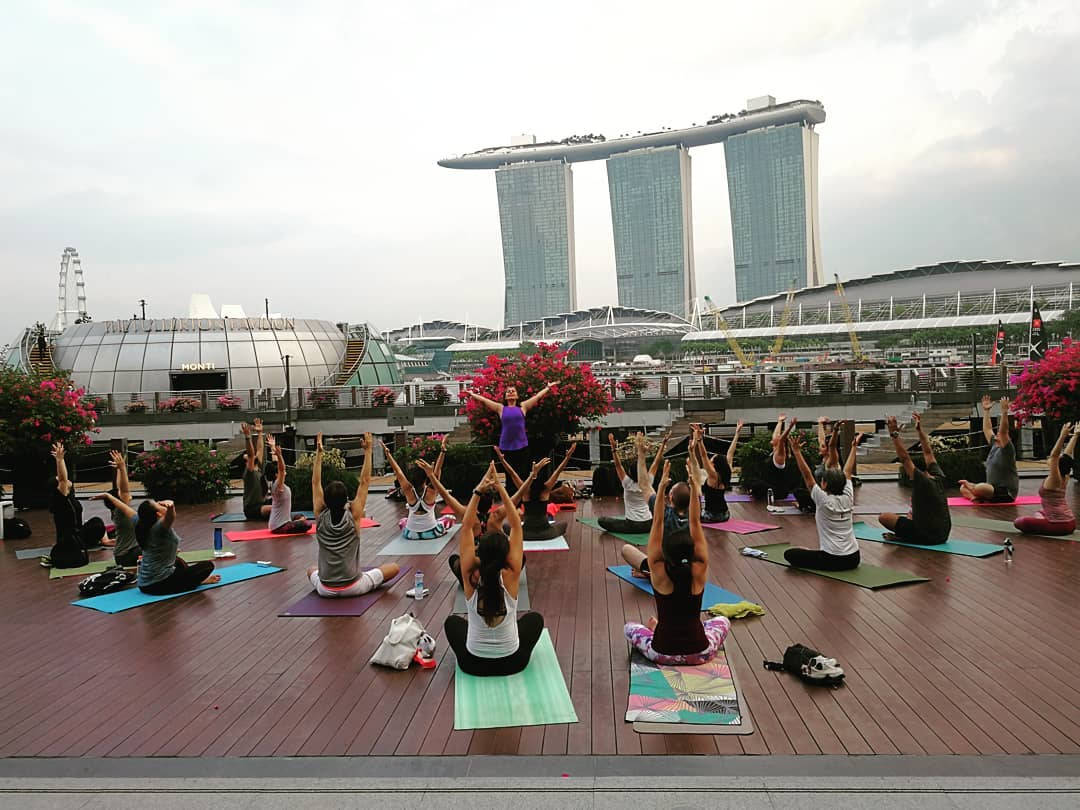 DBS Marina Regatta - free yoga classes