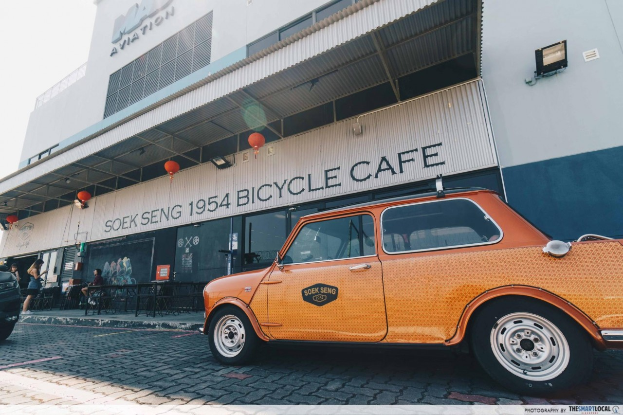 soek seng 1954 bicycle cafe seletar singapore