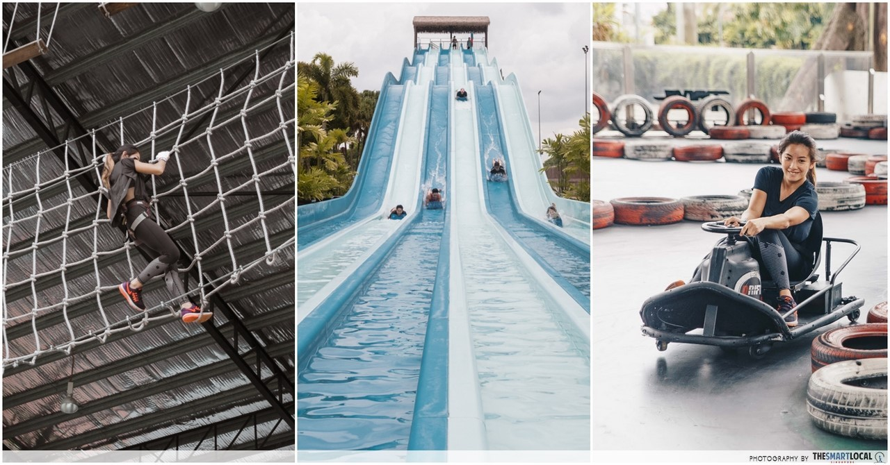 Austin Heights Water & Adventure Park: 3-In-1 Themepark In JB With Giant Slides, Obstacles, & Drift Karting