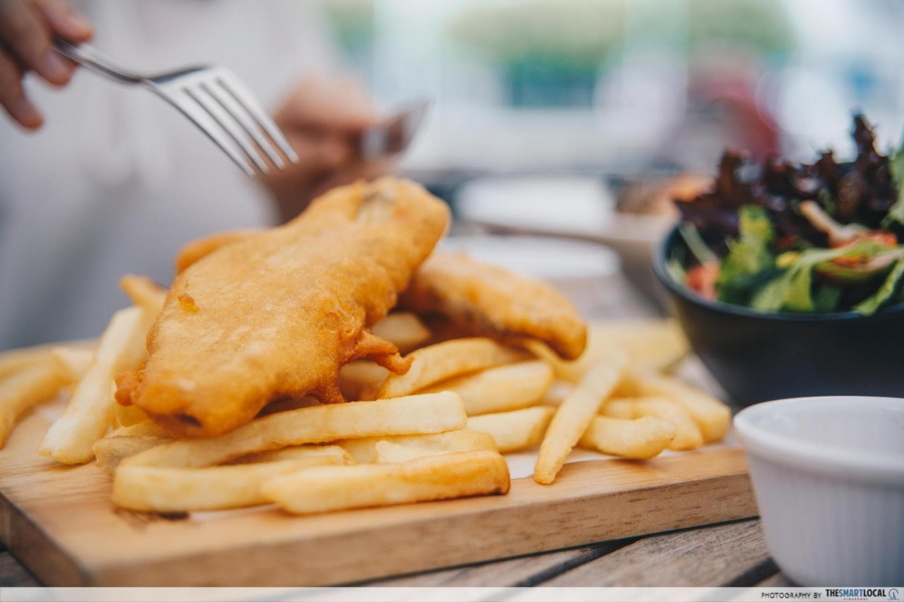 fremantle seafood market - fish and chips