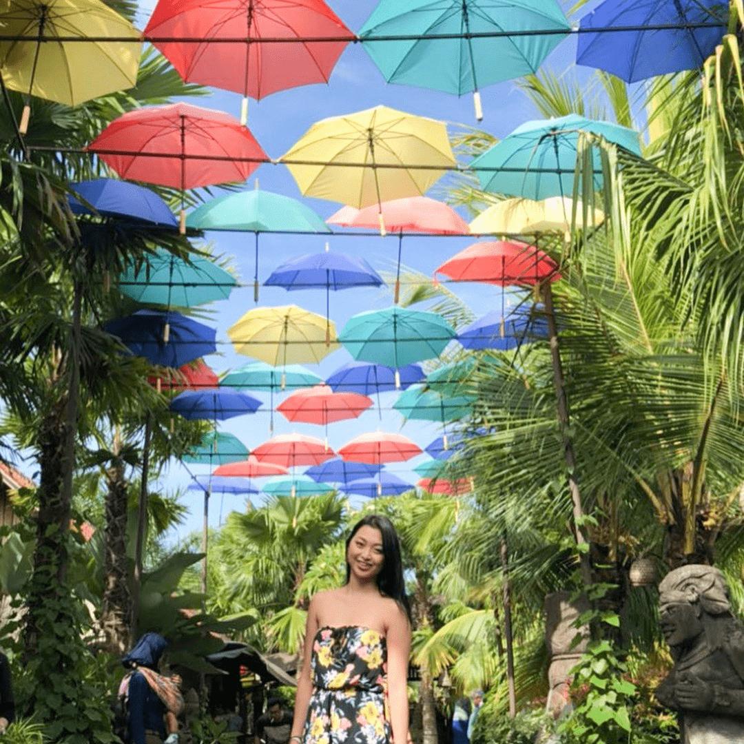 Bali - hanging umbrellas