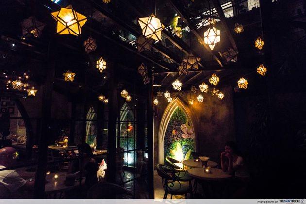 Bali - hanging star lamps