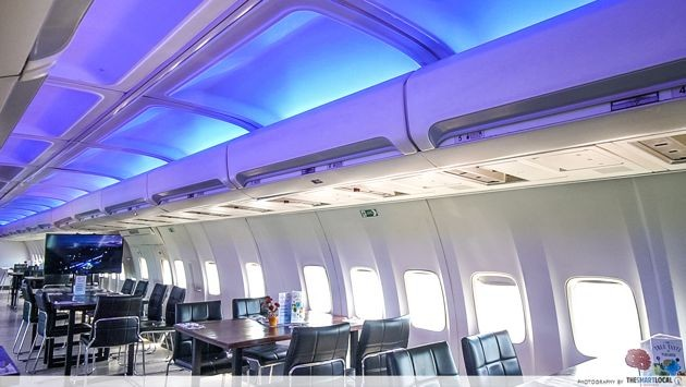 Bali - interior of Aeroplane restaurant