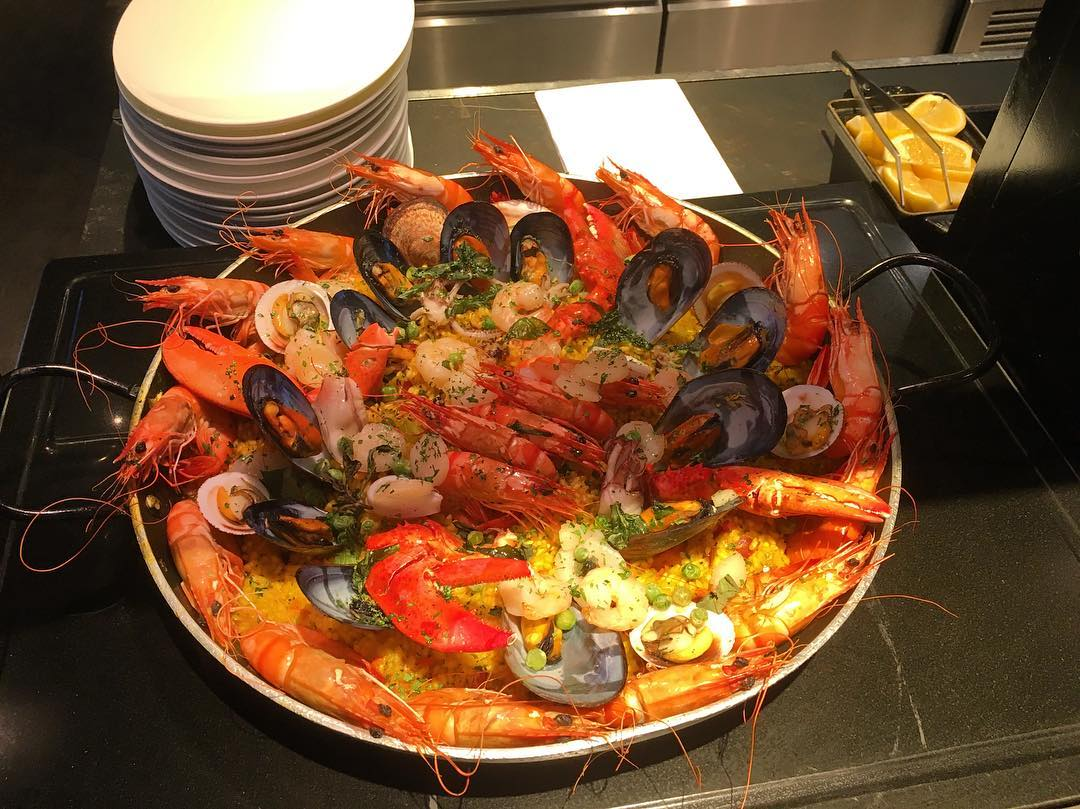 seafood paella beach road kitchen JW marriott singapore hotel buffet brunch