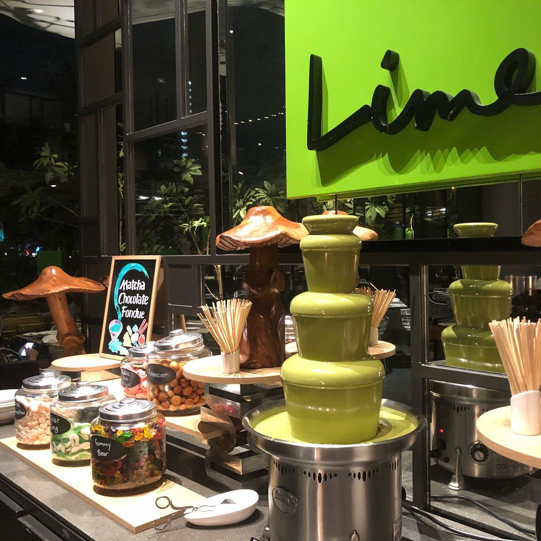 lime parkroyal on pickering hotel singapore matcha fondue