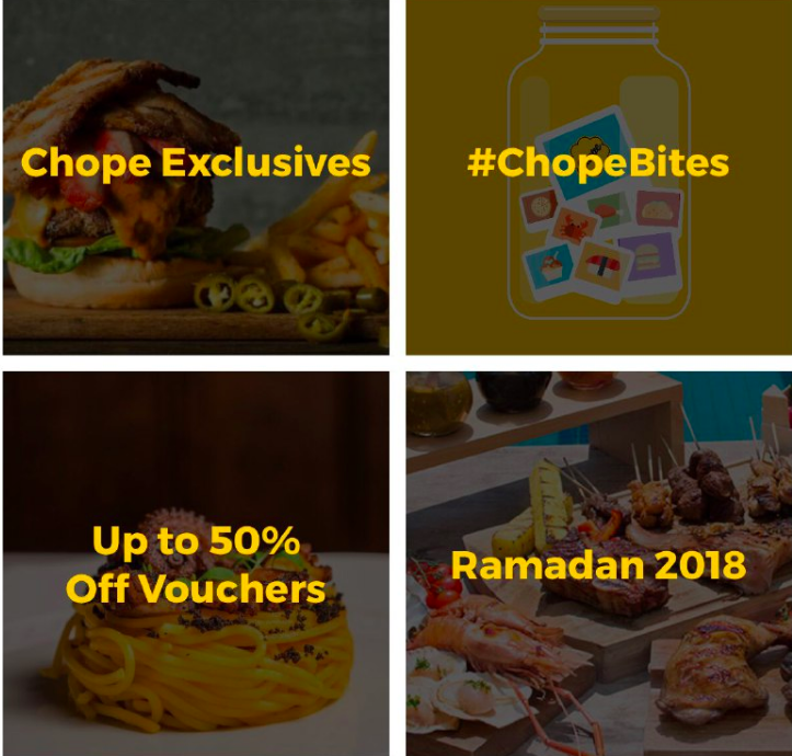 Chope discounts and promos