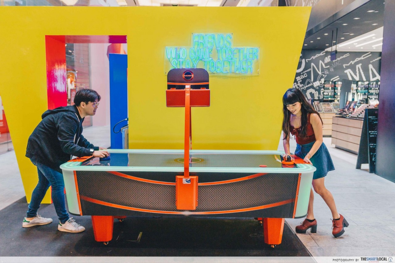 313 Somerset arcade air hockey