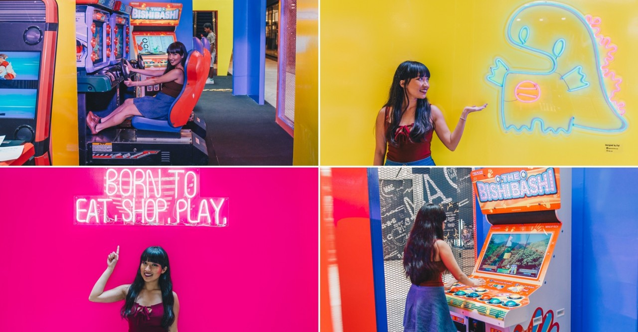 313@somerset Has An Arcade Pop-up With Mario Kart, Bishi Bashi, & Photo-worthy Neon Lights