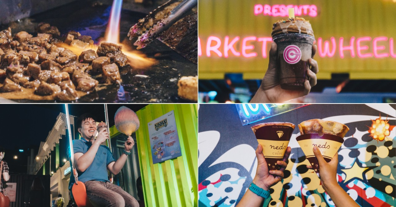 Market On Wheels At Bugis - Container Pop-up Market With Food, Booze & World Cup Screenings