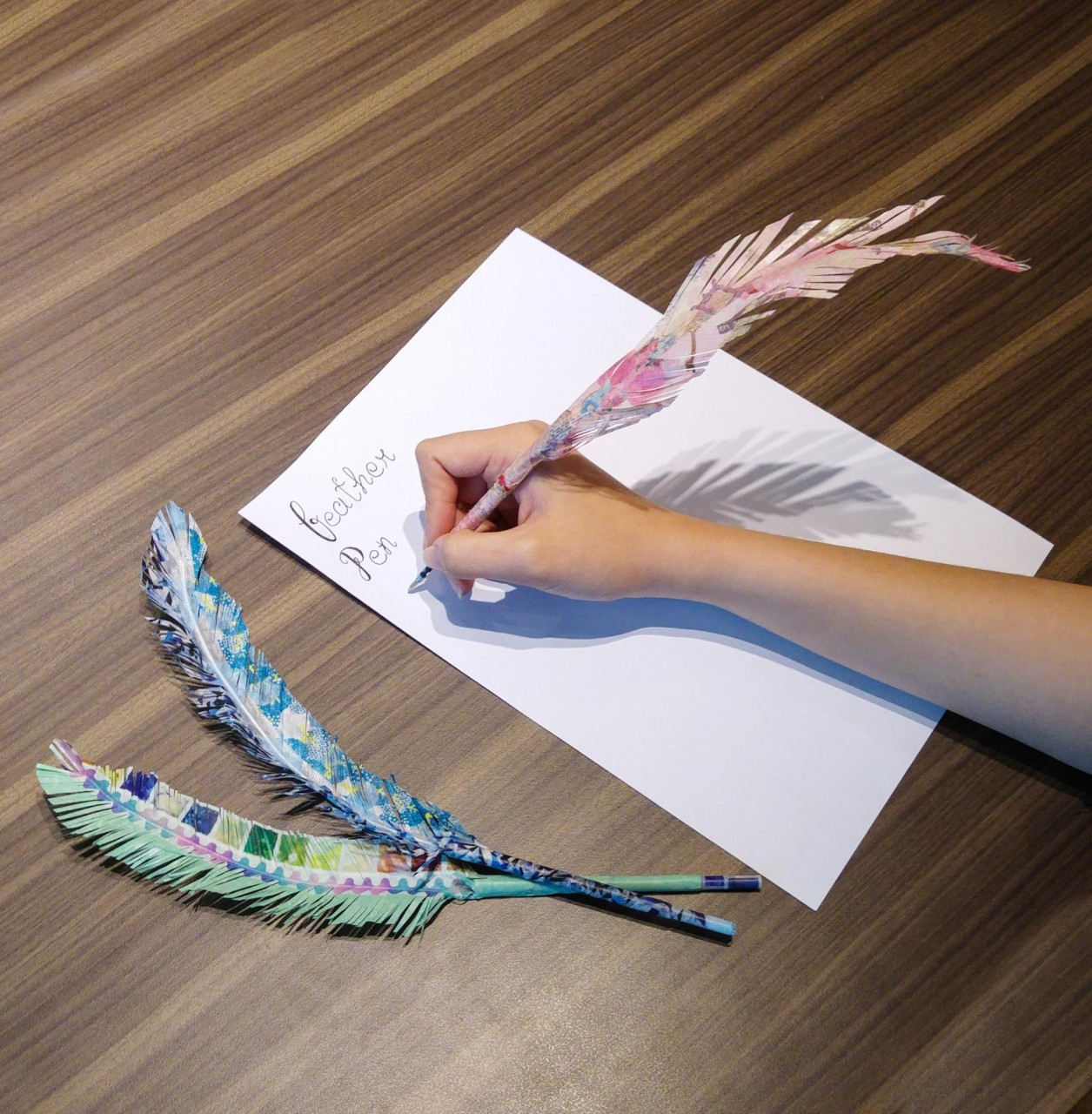washi tape feather pen course