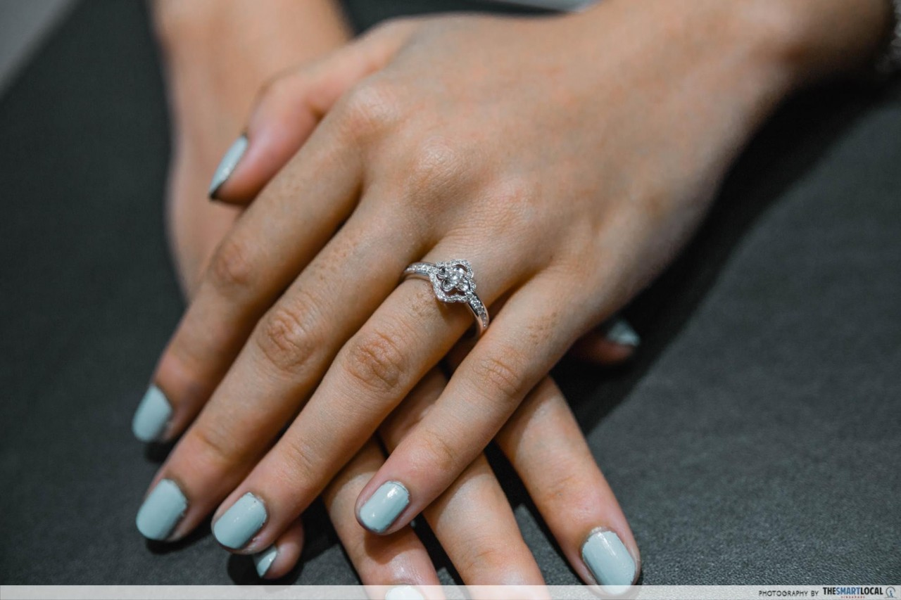 diamond ring customisation in singapore
