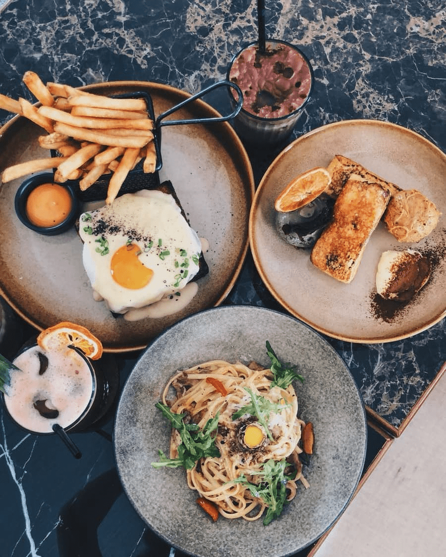 Tropique cafe and restaurant - flatlay of food