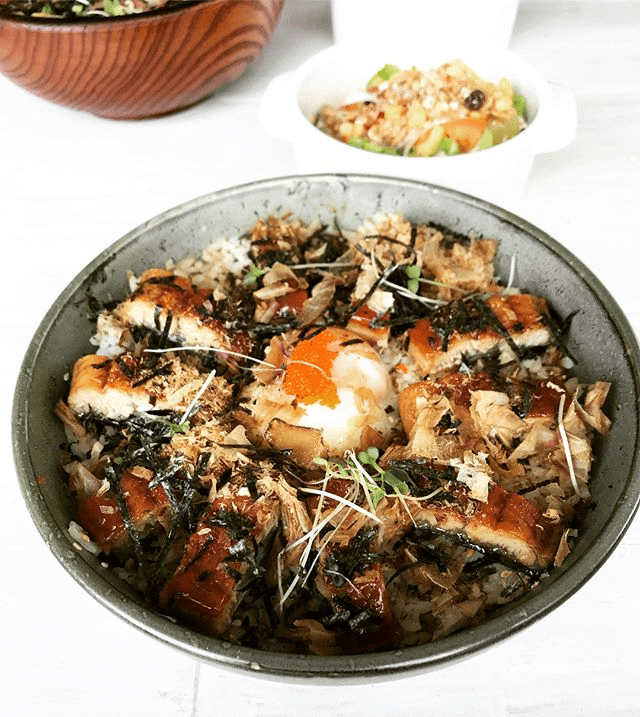 Mok Mok Brunch & Bistro - Unagi signature rice bowl
