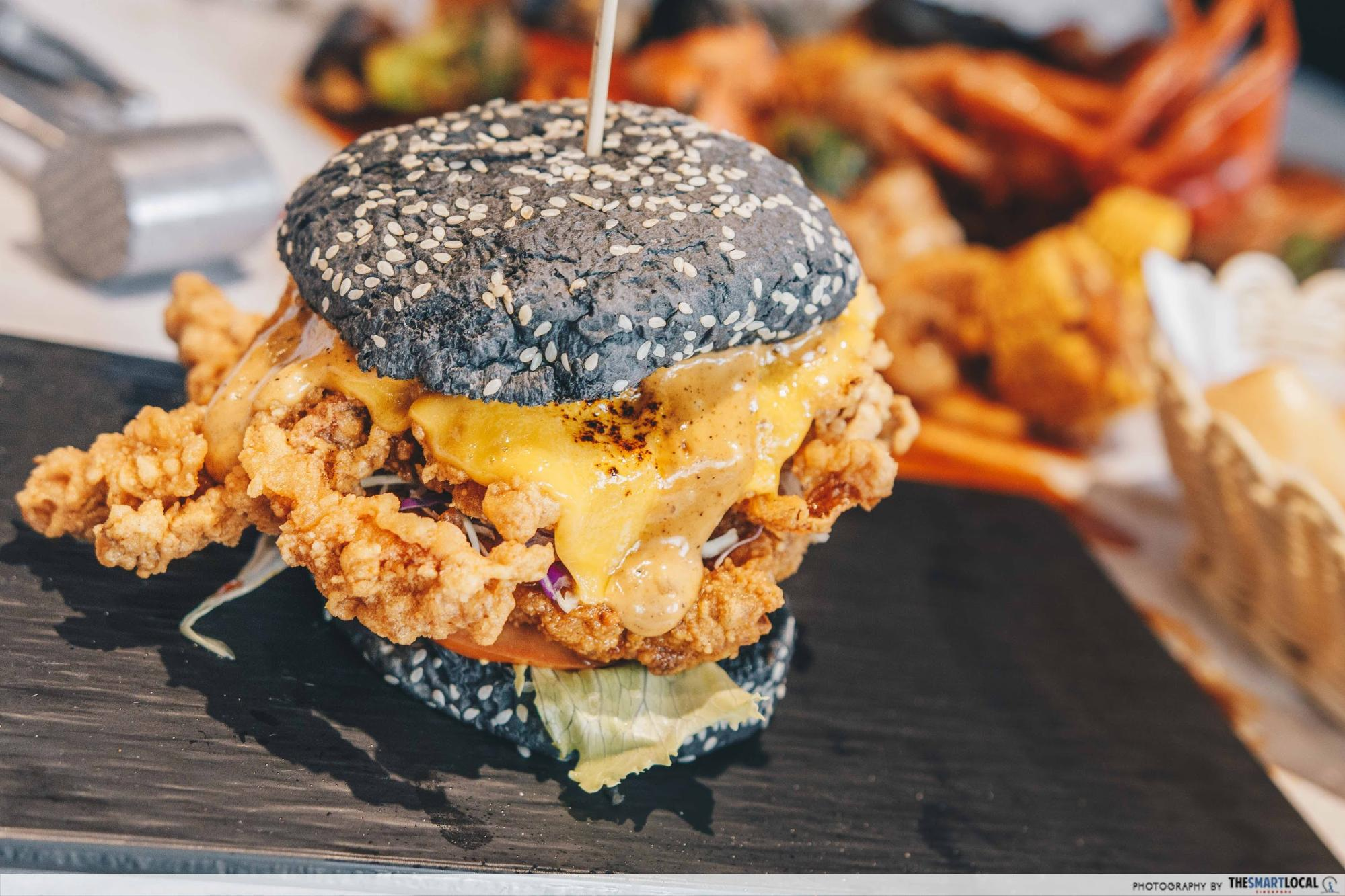 salted egg softshell burger crab factory
