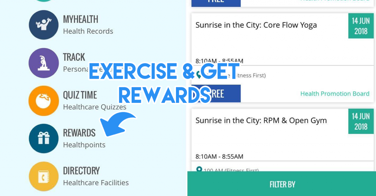 5 Ways To Live Healthy And Redeem Rewards Like Sq Tickets Dining Voucher Hotel Hostel Nine Dollar Bali Exercise Win Singapore