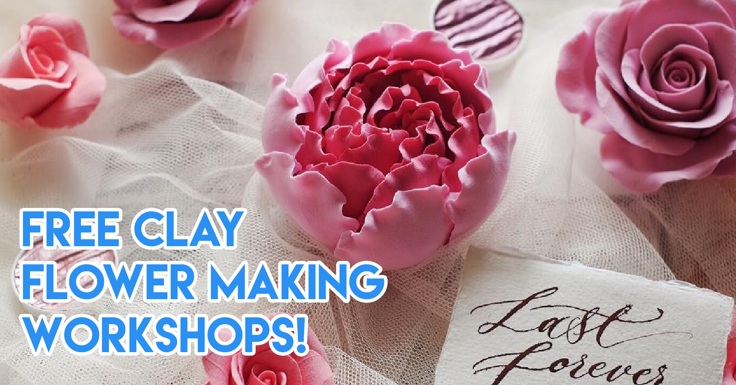 free clay flower making workshops