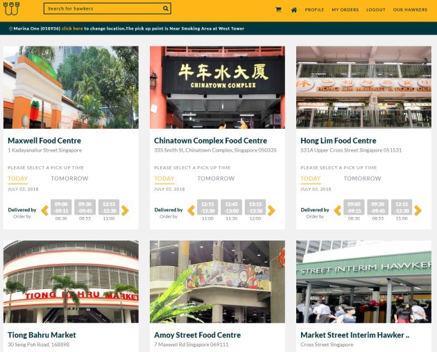 WhyQ - hawker food delivery in Singapore