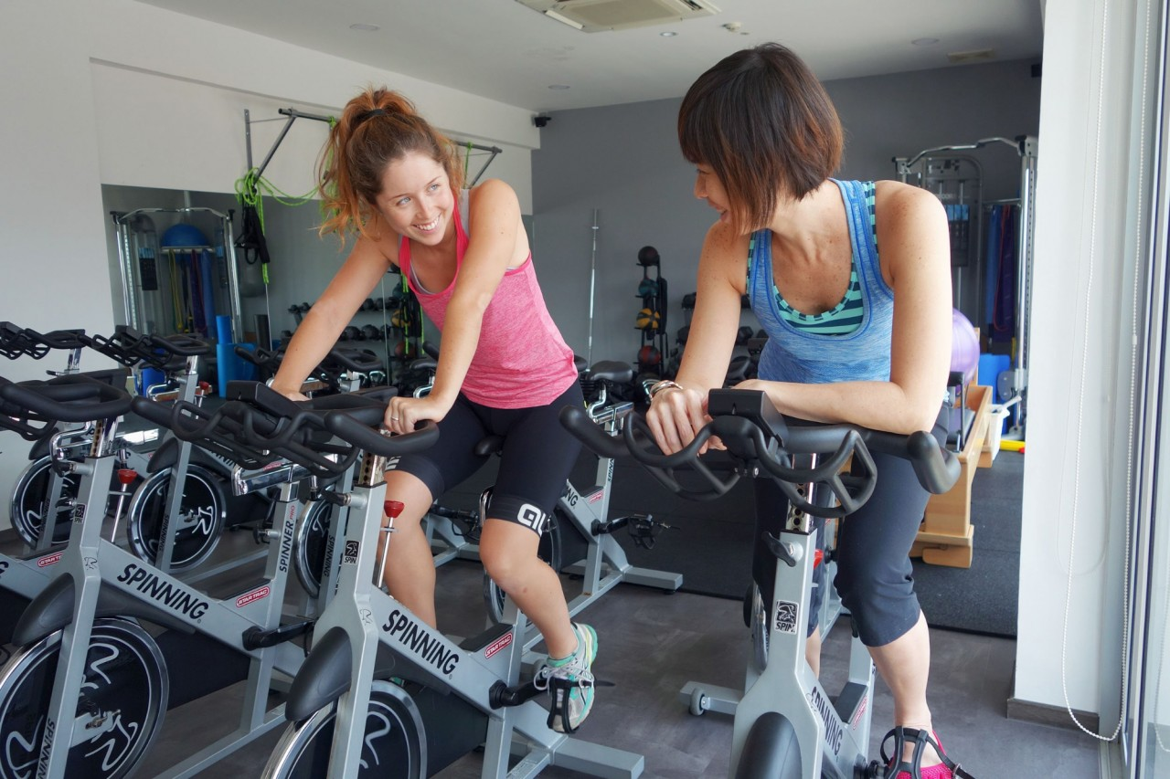 Spin Class -  Moving Boday Group studio trainer private lesson