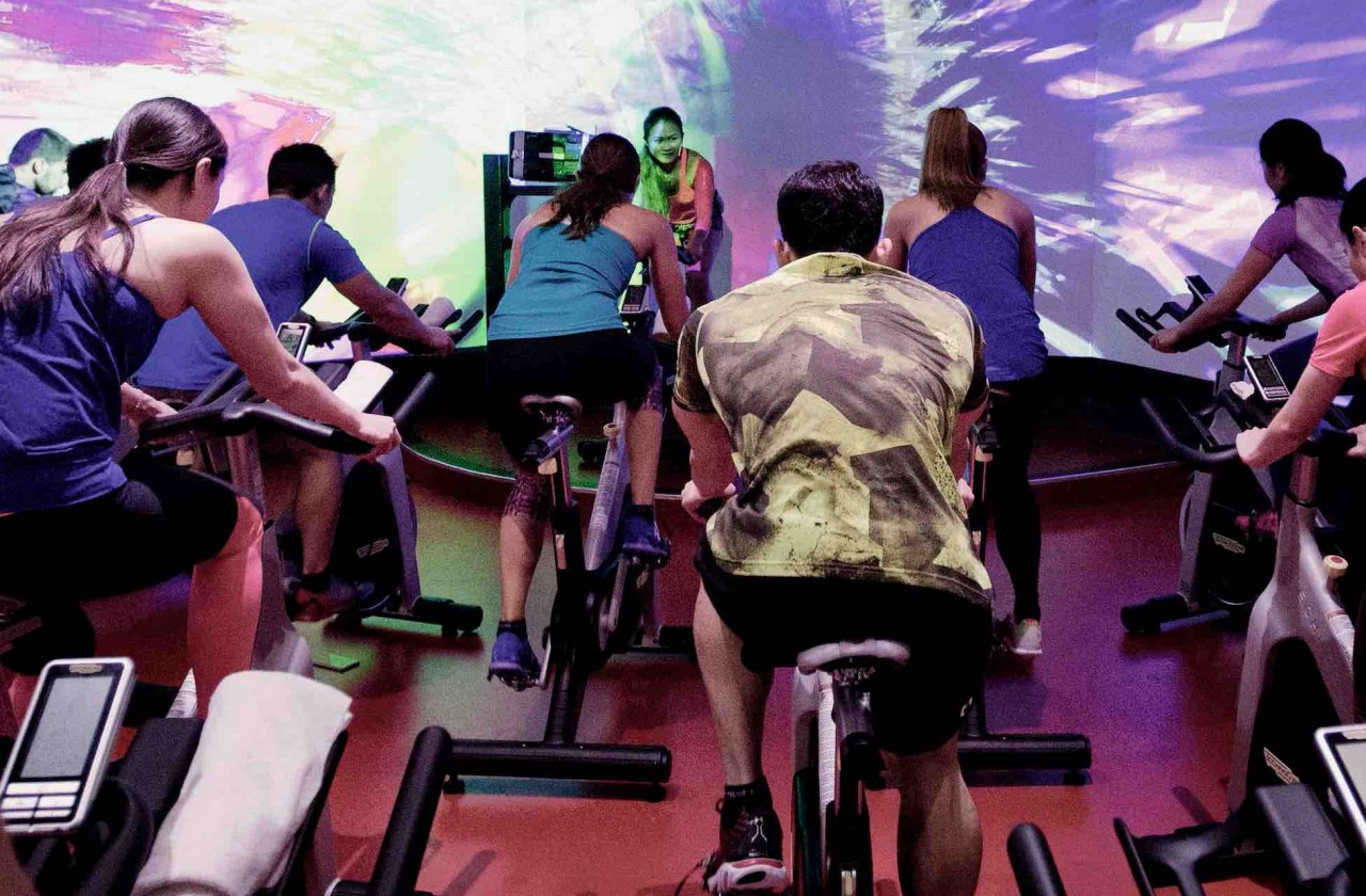 Spin class - True fitness studio bike cycling