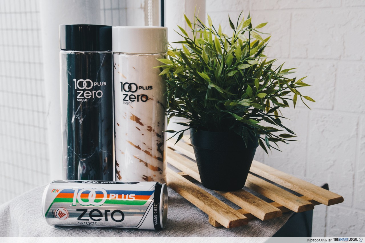 100PLUS Zero Sugar - limited edition marble tumbler