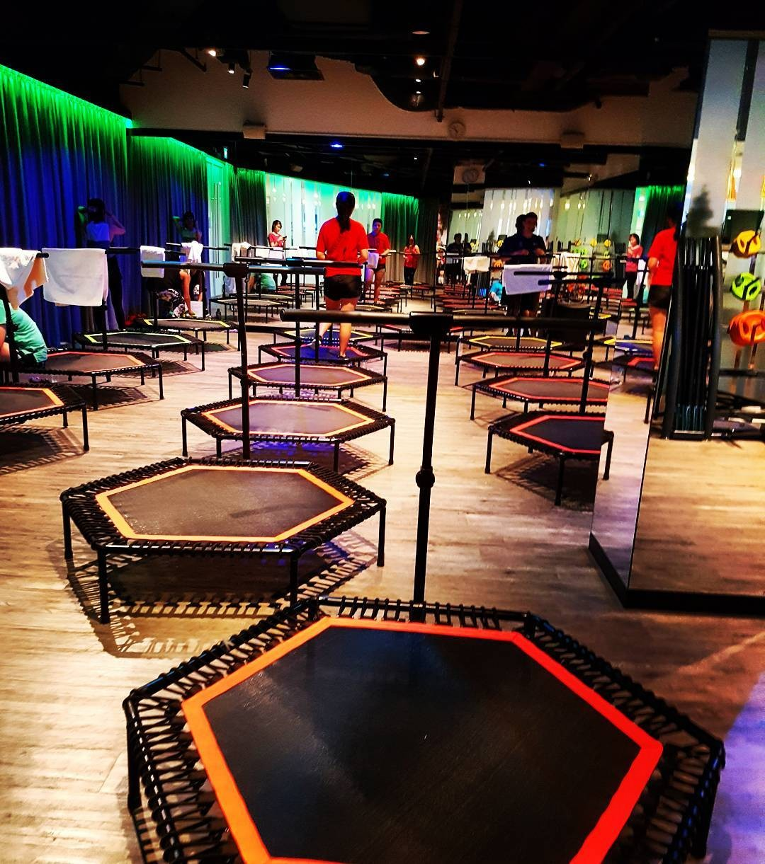 Trampoline park - BBounce rebounding  cardio work out gym