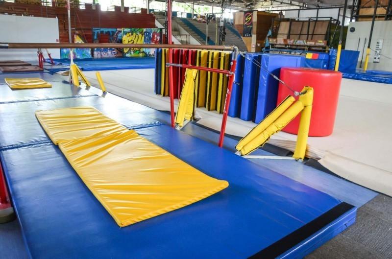 Trampoline park - Gymkraft gym mat floor olympics