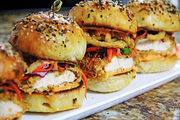 bar - chicken sliders